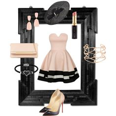 2. Nude at midnight. by kristina-lindstrom on Polyvore featuring Christian Louboutin, ALDO, Alexis Bittar, Kendra Scott, Jewel Exclusive, M&S, Kevyn Aucoin, women's clothing, women's fashion and women