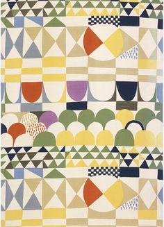 Joseph Frank, 1960, pattern, paper cut, colour, design, abstract, shape, repeat, fabric, geometric