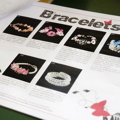 A simple product brochure made for a crafter to show case her prouducts