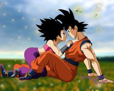 Caulifla x Goku Chibi Goku, Vegeta And Bulma, Dbz, Dragon Ball Z, Dragon Ball Image, Akira, Jin Kazama, Sailor Moon, Kale