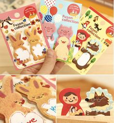 Kawaii Index Sticker and Memo Pad , Great for scrapbooking, diary deco or packaging  4 styles