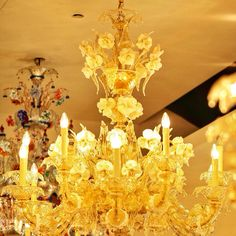 Love this ChandelierTraditional Venetian Murano glass chandelier with 12 light candles