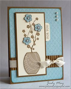 beautiful card...like the colors, design and embellishments and how it all works together...