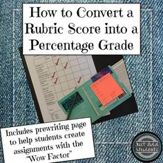 I love using rubrics for writing assignments and projects.  Rubrics should make your grading life easier and faster.  But once youve sped through your grading, how do you convert the rubric score into  a percentage suitable for your gradebook?  You normally cant take the percentage from the rubric; youre percentages would be skewed.