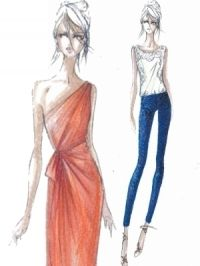 Fashion sketch.