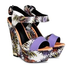 """Just Cavalli Wedges """"weiss / multicolor"""" Wedges, Sandals, Shoes, Fashion, Queen Dress, Gowns, Moda, Shoes Sandals, Zapatos"""