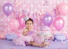 Cake Smash, Pink and Purple Cake Smash, Silver and Pink Cake Smash, Bling Cake Smash, Glitter Crown, Brandie Narola Photography,
