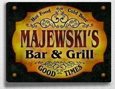Majewski Family Bar & Grill Stretched Canvas Print ZuWEE http://www.amazon.com/dp/B00L9VZ568/ref=cm_sw_r_pi_dp_76brub11W22FZ
