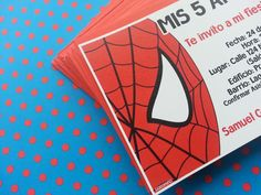 Invitaciones a la fiesta de Spiderman
