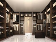 Luxury Closet Ideas : The best of luxury closet design in a selection curated by Boca do Lobo to inspire interior designers looking to finish their projects. Discover unique walk-in closet setups by the best furniture makers out there. Walk In Wardrobe Design, Luxury Wardrobe, Bedroom Closet Design, Master Bedroom Closet, Luxury Closet, Closet Designs, Dressing Room Closet, Dressing Room Design, Wardrobe Room