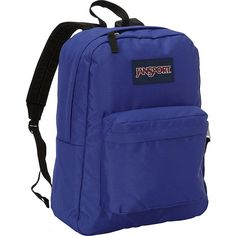 JanSport SuperBreak Backpack ($29) ❤ liked on Polyvore featuring bags, backpacks, purple, school & day hiking backpacks, purple backpack, purple bag, blue backpack, jansport daypack and handle bag