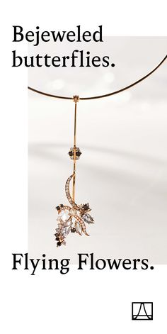 Butterfly drop necklace from the new Flying Flowers collection