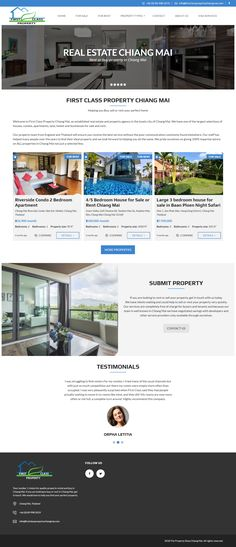 Real estate agent website in Chiang Mai Thailand Chiang Mai Thailand, Portfolio Web Design, Bedrooms, Real Estate, Houses, Website, Building, Homes, Real Estates