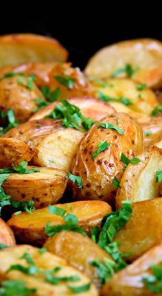 These are my favorite roasted potatoes, I make them all the time. They are tender, delicious and pretty too. You canmicrowave the potatoes in their jackets to reduce cooking time if you wish. No need to peel them as the skin contains nutrients and...