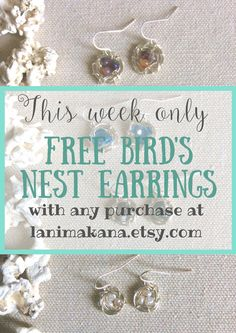These adorable mini birds nest earrings are handcrafted with a trio of speckled jasper beads. They are finished off with nickle-free silver plated