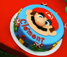 Anniversaire Mario Bros #gâteau #anniversaire #mariobros #gateaumariobros #idéemariobros #anniversairegarcon Mario Birthday Party, Birthday Parties, Birthday Cake, Super Mario Cake, Decoration Patisserie, Party Cakes, Holidays And Events, Amazing Cakes, Cake Decorating