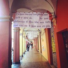 [intervallo] Una bellissima passeggiata tra i muri di versi di via Fondazza a #Bologna instagram, foto di @aless_ssandra_ https://instagram.com/p/3J_5nwp0sp/