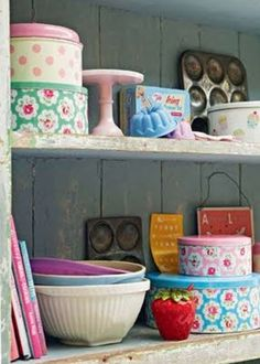one day i will have shelves full of baking stuff to make wonderful pretty tastey decadent treats