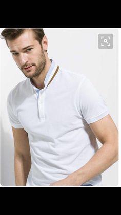 78a77046 Polo Shirt Design, Polo Shirt Style, Polo T Shirts, Polo Blanco, Polo