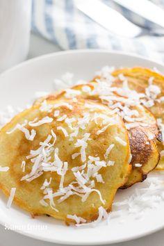 Dairy free coconut milk pancake recipe that's also gluten free, keto, low carb a. - Dairy free coconut milk pancake recipe that's also gluten free, keto, low carb and paleo. Coconut Milk Pancakes, Dairy Free Pancakes, Coconut Flour Recipes, Keto Pancakes, German Pancakes, Ketogenic Recipes, Low Carb Recipes, Healthy Recipes, Greek Yogurt