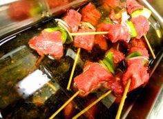 #Beef #skewers marinated in #Asian #mustard sauce (^_−)☆ #DayInTheLife #RestaurantWeek