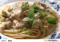 Fast spaghetti with chicken and raw sauce recipe - TopRecepty.cz - Quick spaghetti with chicken and raw sauce recipe – TopRecepty. Chicken Spaghetti, Sauce Recipes, Healthy Recipes, Meat, Cooking, Ethnic Recipes, Lasagna, Cucina, Kochen