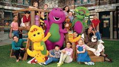 Preschoolers are among those who made this purple dinosaur a beloved character (and toy icon). Barney helped the youngsters learn songs and ways to get along. 2000s Kids Shows, 90s Tv Shows, Childhood Tv Shows, Dinosaurs Series, Barney The Dinosaurs, Michaela Dietz, Barney & Friends, Old Movie Posters, Friends Season