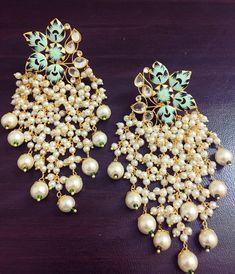 Jewelry by brand – Fine Sea Glass Jewelry Indian Jewelry Earrings, Indian Jewelry Sets, Jewelry Design Earrings, Gold Earrings Designs, Indian Wedding Jewelry, Ear Jewelry, Bridal Jewelry, Unique Earrings, Silver Jewelry