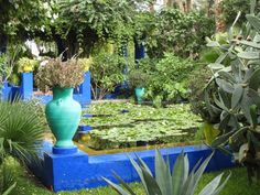Majorelle-Garden-Louis-Majorelle-bleu-majorelle-cobalt-blue-pool-water-lilies