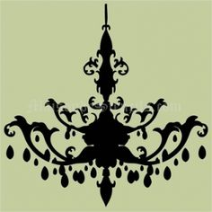 Chandelier stencil with extra repeating chain mozeypictures Images