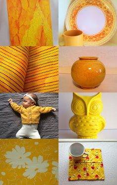 Feel the heat of hot Yellow FRU by Karen Panella on Etsy--Pinned+with+TreasuryPin.com