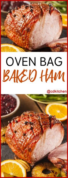 We all know that you can cook a turkey in an oven bag, but did you know you can cook a ham in one too? Cooking Ham In Oven, Cooking Spiral Ham, Ham In The Oven, Cooking Turkey, Cooking Recipes, Oven Ham Recipes, Meat Recipes, Meat Meals, Cooking Bacon