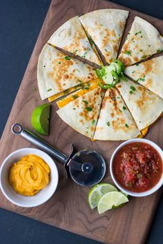 You'll never miss the cheese in this vegan sweet potato quesadilla! Flavored with lime juice, honey and smoky chipotle peppers the filling is great in burritos or bowls too!