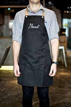 Maybe aprons could be a good way to make the staff stand out? Using bright colours or patterns/ something easily distinguishable from a customer. Mexout branding by Bravo Company hotels and restaurants branding