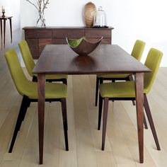 Atelier - Vintage Mod - Fabric dining chair with wood legs Furniture Styles, Home Decor Furniture, Kitchen Furniture, Cool Furniture, Vintage Interior Design, Decor Interior Design, Table Atelier, Bouclair, Wood Buffet