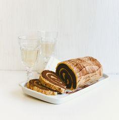 Une bûche de Noël choco-baileys.... avec du chou-fleur de la patate douce, des betteraves et des pommes... sans oublier le chocolat ! Tirée du livre : Desserts santé pour dents sucrées 2