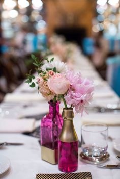 white flowers, pink flowers, dinner parties, party flowers