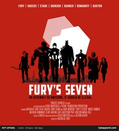 """Fury's Seven"" by NinjaInk T-Shirt for sale only on May 7th, 2012 $10 www.riptapparel.com"