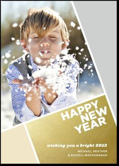 A sparkling New Year's Card by, Tiny Prints