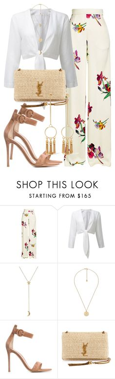 """2456"" by mariandradde ❤ liked on Polyvore featuring Etro, Pamela Love, Gucci, Gianvito Rossi, Yves Saint Laurent, Chloé, saintlaurent, yvessaintlaurent and lisamariefernandez"