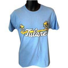 Champion® Tulane Sluggerbird Baseball T-Shirt - Blue