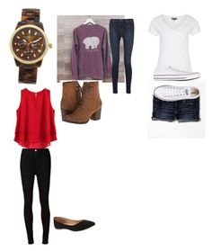 """""""Untitled #349"""" by amyskylatham ❤ liked on Polyvore featuring Michael Kors, J Brand, Madden Girl, Zalando, American Eagle Outfitters, Converse, AG Adriano Goldschmied and Old Navy"""