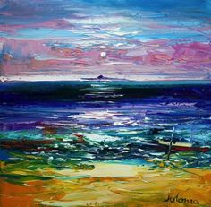 Jolomo - Quiet Evening on Iona looking to the Dutchman's Cap Size: Oil Paintings, Landscape Paintings, Landscapes, Art Advisor, Acrylic Painting Techniques, Art For Art Sake, Teaching Art, Love Art, Contemporary Artists
