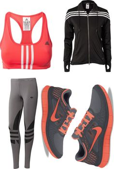 """""""my running outfit"""" by bambamandpebbles ❤ liked on Polyvore"""