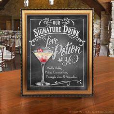Chalkboard Style Signature Drink Signs Wedding von RockinChalk