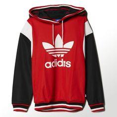 adidas Originals ARCHIVE HOODIE Red/Core White/Black S87507 #adidas #Hoodie