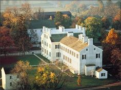 // Shaker Village, Pleasant Hill in Kentucky is a restored Shaker community and living history museum