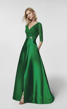 Featured Dress: Pronovias; Evening dress idea.