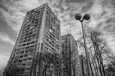 """""""Rakete"""" or """"Rockets"""". Communist-era apartment blocks in Zagreb. Architect - Richter. BY NATE ROBERT #socialist #brutalism #architecture"""
