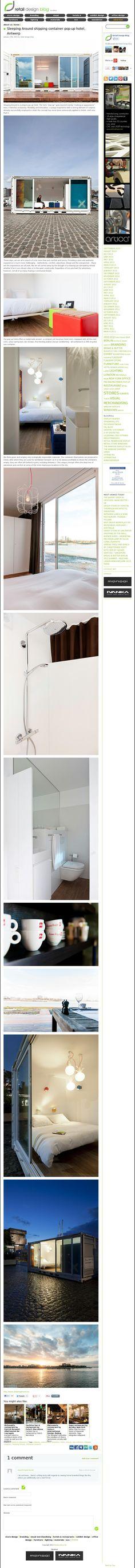 The website 'http://retaildesignblog.net/2013/01/27/sleeping-around-shipping-container-pop-up-hotel-antwerp/' courtesy of @Pinstamatic (http://pinstamatic.com)